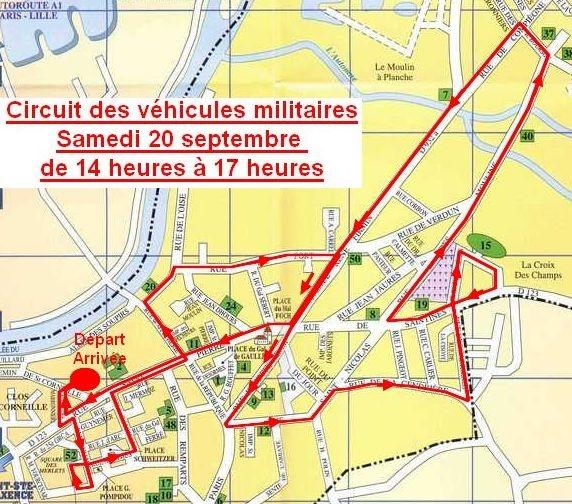 Circuit des véhicules militaires