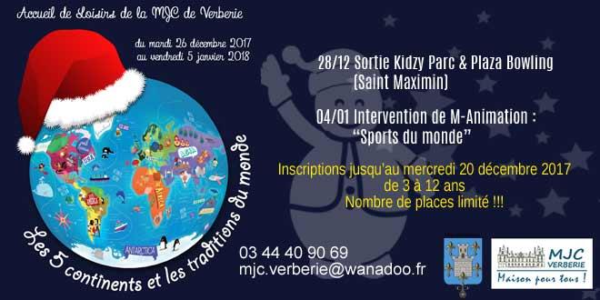 La MJC de Verberie propose des activités pour les enfants pendant les vacances de Noël.