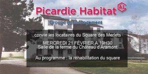 Réunion Picardie Habitat @ Salle de la Ferme du Château d'Aramont | Verberie | Hauts-de-France | France