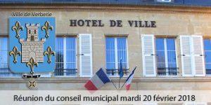 Conseil municipal le 20 février 2018 @ Mairie de Verberie | Verberie | Hauts-de-France | France