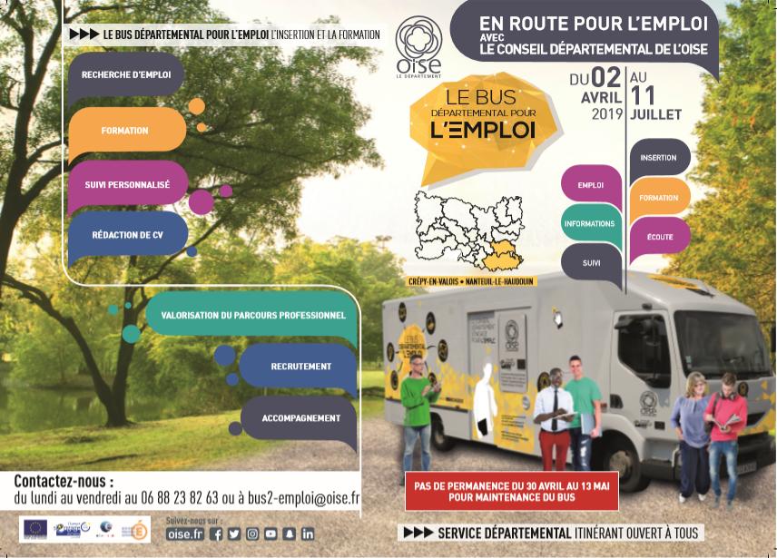 Bus départemental pour l'emploi @ Square des Merlets - Verberie